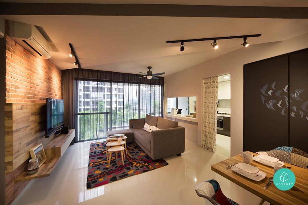 Surprising Industrial Home Design Singapore Contemporary   Simple .